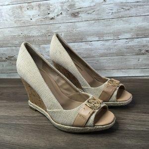 Arturo Chiang Cork Wedge Heel Size 6.5